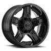 8 LUG 740 MANIFOLD SATIN BLACK WITH CUSTOMIZABLE SATIN BLACK INSERTS