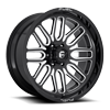 Ignite - D662 22x10 ET18 | Gloss Black & Milled