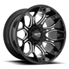 6 LUG MO808 SNIPER GLOSS BLACK MILLED