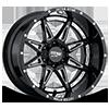 MO993 Hydra Gloss Black with Chrome Inserts