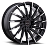 5 LUG 417 MONTAGE GLOSS BLACK WITH MIRROR MACHINED SPOKE TIPS