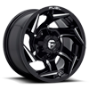 Reaction - D753 Gloss Black Milled - 15x8