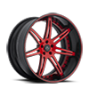 5 LUG SV48-C RED WITH BLACK LIP
