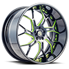 5 LUG SV72-XLT GLOSS BLACK W/ GREEN ACCENTS