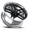 5 LUG GTB EXL S.CONCAVE MATTE BLACK W/ POLISHED LIP