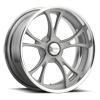 Schott Wheels - Tomahawk d.concave Gray w/Polished Lip