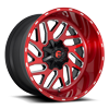 Triton - D691 Brushed Candy Red/Gloss Black/Milled