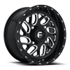 Triton - D581 - UTV 16x7 | 4 Lug | Gloss Black & Milled