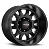 108 Xtreme Satin Black and Clear Coat - 20x12