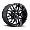 203 Hunter Gloss Black with Milled Accents and Clear Coat - 20x10
