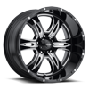 249 Predator II Gloss Black with Milling and Clear Coat - 20x10
