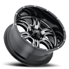 5 LUG 249 PREDATOR II GLOSS BLACK WITH MILLING AND CLEAR COAT - 20X10
