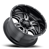 6 LUG 249 PREDATOR II GLOSS BLACK WITH MILLING AND CLEAR COAT - 20X10