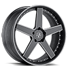 5 LUG VUH CONCAVE BLACK MACHINED