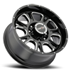 8 LUG 399 FURY GLOSS BLACK WITH MILLED SPOKE
