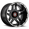 6 LUG AB809 ENFORCER GLOSS BLACK MILLED