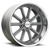 5 LUG VN507 RODDER VINTAGE SILVER W/ DIAMOND CUT LIP