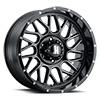 H118 Gloss Black Milled Spokes