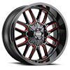 6 LUG 8107 COGENT GLOSS BLACK RED MILLED