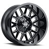 6 LUG 8107 COGENT GLOSS BLACK MILLED