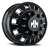 10 LUG BIG RIG BLACK MILLED SPOKES