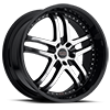 5 LUG 9012 KAPRI GLOSS BLACK MACHINED FACE