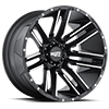 6 LUG MO978 RAZOR SATIN BLACK MACHINED