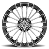 5 LUG WURTTEMBURG GUNMETAL W/MIRROR CUT FACE