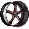 5 LUG SV29-S BLACK AND RED WITH CARBON LIP