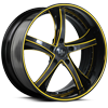 5 LUG SV29-S CARBON AND YELLOW WITH BLACK