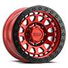 8 LUG PRIMM BEADLOCK CANDY RED W/ BLACK RING