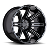 8 LUG RAMPAGE GLOSS BLACK MILLED