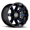 8 LUG RAMPAGE GLOSS BLACK MILLED BLUE