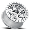 6 LUG RENO BEADLOCK SILVER WITH MIRROR FACE AND SILVER BOLTS