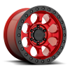 6 LUG RIOT CANDY RED W/ BLACK RING