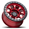 6 LUG RIOT BEAD LOCK - RF CANDY RED W/ BLACK RING