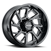 120 Patriot Gloss Black with Clear Coat - 20x10