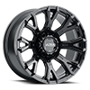 123 Scorpion Gloss Black with Clear Coat 20x10