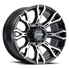 123 Scorpion Gloss Black with Diamond Cut Face and Clear Coat - 20x10