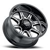 6 LUG 229 MENACE GLOSS BLACK WITH DIAMOND CUT FACE AND CLEAR COAT