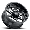 8 LUG 229 MENACE GLOSS BLACK WITH DIAMOND CUT FACE AND CLEAR COAT