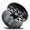 8 LUG 254 CARNIVORE GLOSS BLACK WITH DIAMOND CUT FACE AND CLEAR-COAT