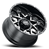 6 LUG 254 CARNIVORE GLOSS BLACK WITH DIAMOND CUT FACE AND CLEAR-COAT - CC