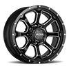 219 Nemesis Gloss Black with Milled Lip Accents and Clear-Coat