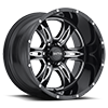 6 LUG 249 PREDATOR II GLOSS BLACK WITH MILLING AND CLEAR COAT