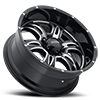 6 LUG 249 PREDATOR II GLOSS BLACK WITH MILLING AND CLEAR COAT - 20X12