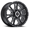 6 LUG 399 FURY GLOSS BLACK WITH MILLED SPOKE
