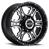 397 Rage Gloss Black with Milled Spoke