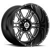 397 Rage Gloss Black with Milled Spokes - 20x12
