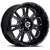 399 Fury Gloss Black with Milled Spokes - 20x10